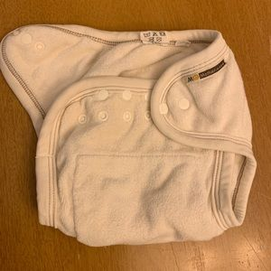 7 Mother's Ease diapers and two wet bags